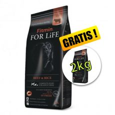 Fitmin dog For Life Beef & Rice 14 + 2 kg GRÁTISZ
