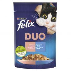 Felix Fantastic Duo tasakos eledel finom lazacból és szardíniából kocsonyában 85 g
