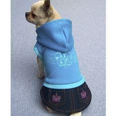 Kutyaruha - pulcsi és szoknya kutyáknak, kék, L
