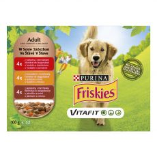 FRISKIES VITAFIT válogatás marhából, csirkéből és bárányból szószban 12 x 100 g