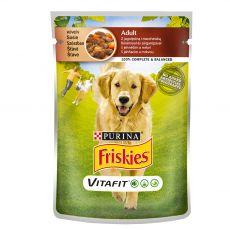 FRISKIES Adult VitaFit tasakos eledel bárányból és sárgarépából szószban 100 g