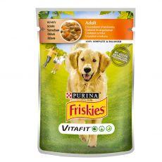 FRISKIES Felnőtt VitaFit tasakos eledel csirkéből és sárgarépából szószban 100 g