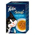 FELIX Soup Delicious válogatás tőkehalból, tonhalból és lepényhalból 6 x 48 g