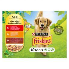 FRISKIES VITAFIT válogatás csirkéből, marhából és bárányból kocsonyában 12 x 100 g