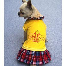 Kutyatrikó és kutyaszoknya egyben - sárga, XL