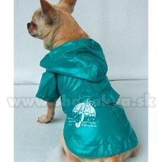 Esőkabát kutyáknak - türkizzöld, esernyő, M