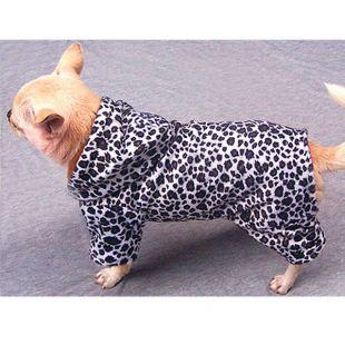 Kutya overall, leopárd mintás, fekete - fehér, L