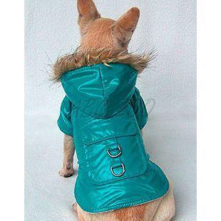 Kutyadzseki - vízlepergetős, zöld, XL