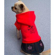Kutyapulóver és szoknya - piros színű, XL