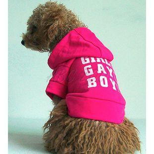 Kutya pulcsi, kapucnis - sötétrózsaszín, XL