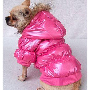 Széldzseki kutyáknak - rózsaszín tollkabát, XXL