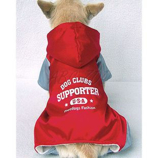 Overall kutyáknak, sportos, szürke - piros, M