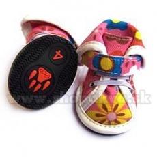 Kutyacipő, arab - rózsaszín textilcipő, (4db), 4-es méret
