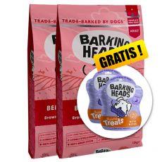 BARKING HEADS Beef Waggington 2 x 12 kg + AJÁNDÉK