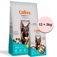 Calibra Dog Premium Line Felnőtt Nagy 12 + 3 kg ÚJ