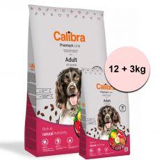 Calibra Dog Premium Line Felnőtt Marha 12 + 3 kg ÚJ