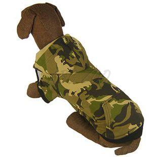 Nagyméretű kutyapulóver, kapucnis - terepmintás, L-S