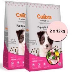 Calibra Dog Premium Line Kölyök és Junior 2 x 12 kg ÚJ