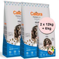 Calibra Dog Premium Line Felnőtt 2 x 12 kg + 6 kg ÚJ