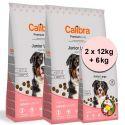 Calibra Dog Premium Line Junior Nagy 2 x 12 kg + 6 kg ÚJ