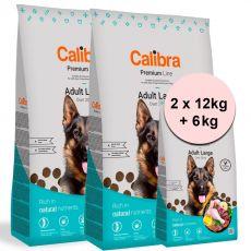 Calibra Dog Premium Line Felnőtt Nagy 2 x 12 kg + 6 kg ÚJ