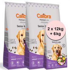 Calibra Dog Premium Line Senior & Light 2 x 12 kg + 6 kg ÚJ