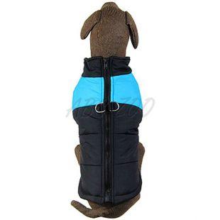 Kutyakabát nagy kutyára, fekete - kék, L-S