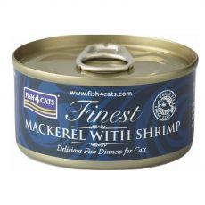 Fish4cats Finest Makréla és Garnélarák 70 g