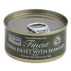 Fish4cats Finest Tonhal és Tengeri hínár 70 g