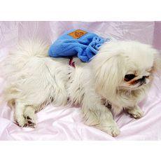 Kistáska kutyának hámmal - kék