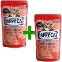 Happy Cat ALL MEAT Adult alutasakos eledel Beef & Heart 85 g 1+1 AJÁNDÉK