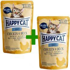 Happy Cat ALL MEAT Adult alutasakos eledel Chicken & Duck 85 g 1+1 AJÁNDÉK