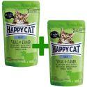 Happy Cat ALL MEAT Adult alutasakos eledel Veal & Lamb 85 g 1+1 AJÁNDÉK