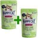Happy Cat ALL MEAT Adult Sterilised alutasakos eledel Veal & Lamb 85 g 1+1 AJÁNDÉK