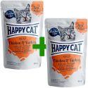 Happy Cat MEAT IN SAUCE Adult Chicken & Turkey alutasakos eledel 85 g 1+1 AJÁNDÉK