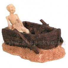 Dekoráció - Csontváz csónakban