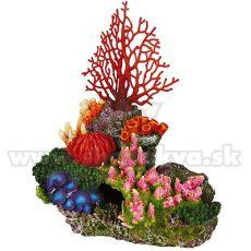Akvárium ornamentum - korallsziget