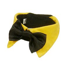 Csokornyakkendő kutyának - fekete, sárga gallérral, M
