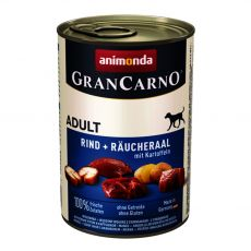 Gran Carno Fleisch Adult, 400 g - füstölt angolna burgonyával, kutyatáp