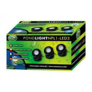 NPL1-3LED világítás kerti tavakhoz 3 x 1,6 W