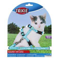 Hám és póráz egyben kismacskáknak - Kitty Cat, kék