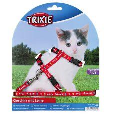 Kitty Cat macskahám pórázzal, piros