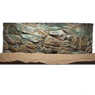 3D akvárium háttér 100 x 60 cm - SZIKLA