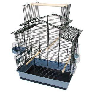 IZA III papagáj kalitka - fekete - 58,5 x 38 x 65 cm