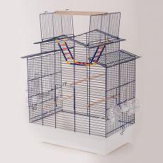 IZA III papagáj kalitka - KOBALT - 58,5 x 38,5 x 65 cm