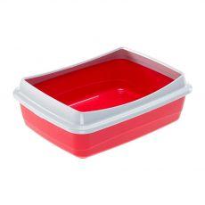 Macskatoalett - piros, 47 x 36 x 15,5 cm