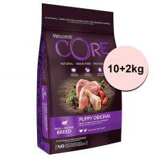Wellness CORE Dog S/M Kölyökkutya Pulyka és Csirke 10+2 kg