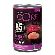 Wellness CORE Dog 95% pulyka és kecske 400 g