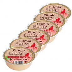 Fitmin Kitten Purity csirke tray 6 x 85 g