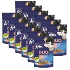 Felix Fantastic Duo tasakos eledel finom lazacból és szardíniából kocsonyában 12 x 85 g